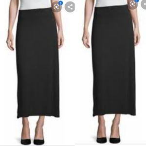 NWT Liz Claiborne long black straight skirt sz 10